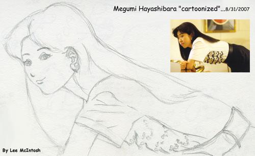 Megumi Hayashibara Cartoonized by cartoonistforchrist