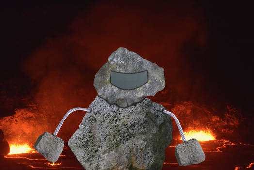 Pohaku Jaeger Guarding Kilauea Volcano in Hawaii