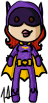 Batman - Batgirl by shrimp-pops
