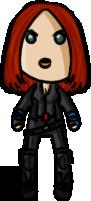 Marvel Cinematic Universe - Black Widow (CAWS) by shrimp-pops