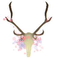 Pixel Art Elk Skull P2U by Artfullypretty