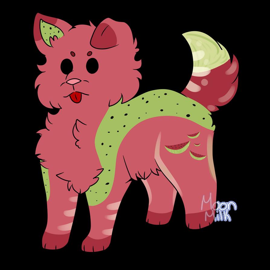 Watermelon Dog by Artfullypretty