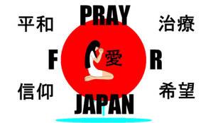 Pray for Japan by Kurssaxx