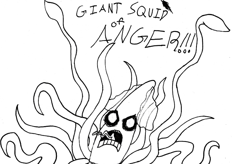 GIANT SQUID OF ANGER by Coahtemoc