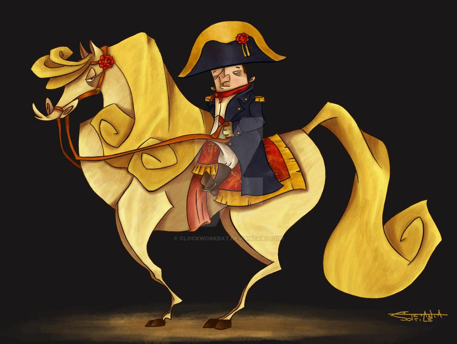 Napoleon and Marengo by clockworkBAT