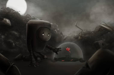 Lonely little robot