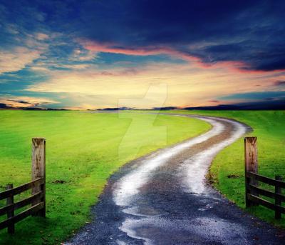 Premade Summer Road by MBHenriksen