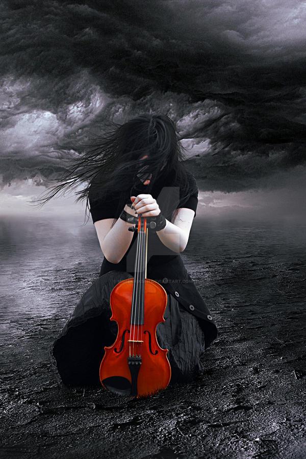 The Sad Violinist by MBHenriksen