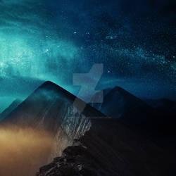 Premade Cosmic Mountains by MBHenriksen