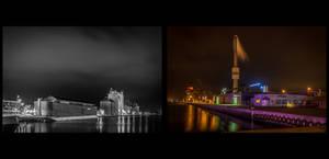 Randers Harbour by Night