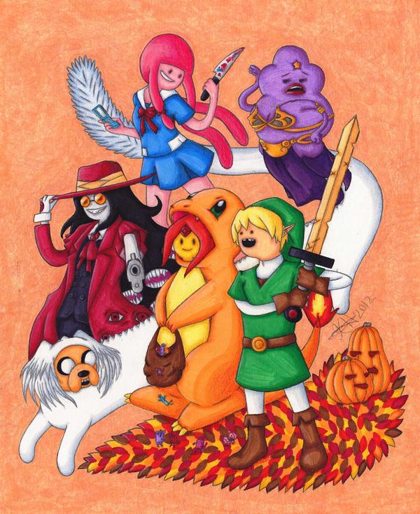 Adventure Time Halloween by kataiya on DeviantArt