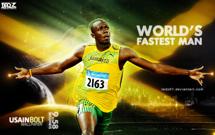 USAIN BOLT WALLPAPER By TedZ01
