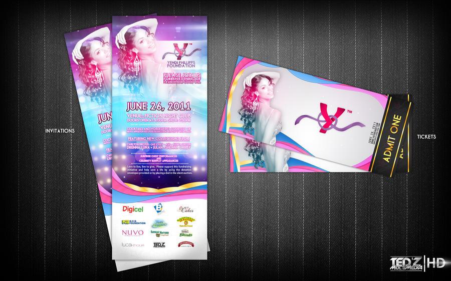 Yendi's Invitation and Tickets by TedZ01 on DeviantArt