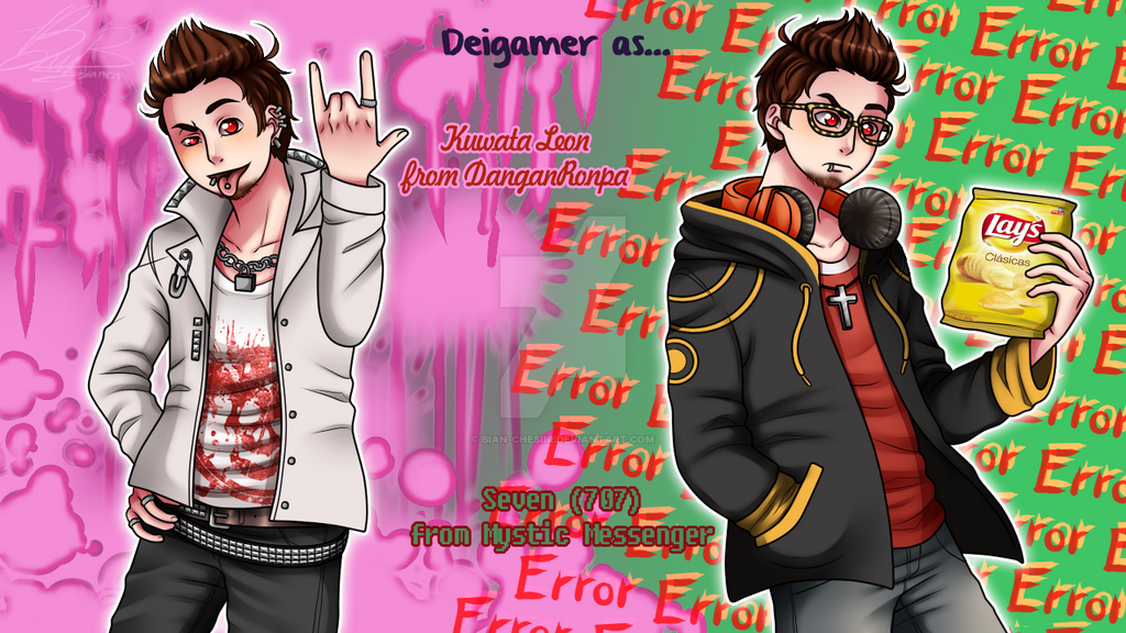 Deigamer as: Kuwata Leon and Seven (707) by Bian-Chesiir