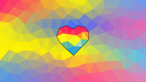 Low Poly Pansexual Wallpaper