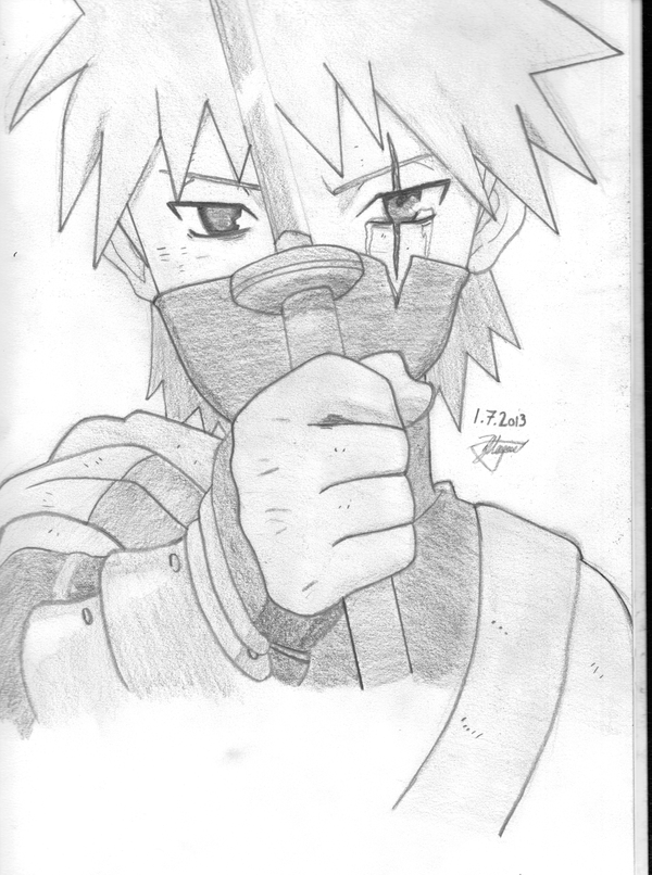 Kid Kakashi drawing by Xezn