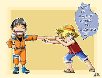 Naruto vs One Piece by Anyarr