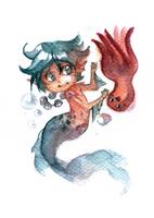 The Little Merman by Anyarr