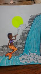 Stoner mermaid by kamikazeChris
