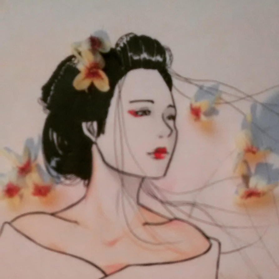 Real Flower and Geisha by gabi-raposa