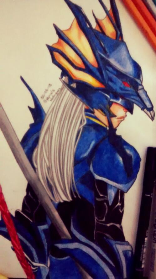Kain Final Fantasy IV by gabi-raposa