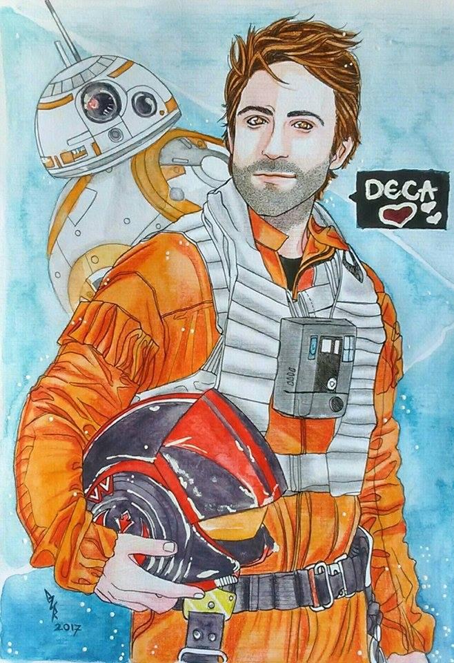 Poe Dameron - Star Wars by gabi-raposa