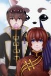 Gintama: Kagura x Okita x Sadaharu