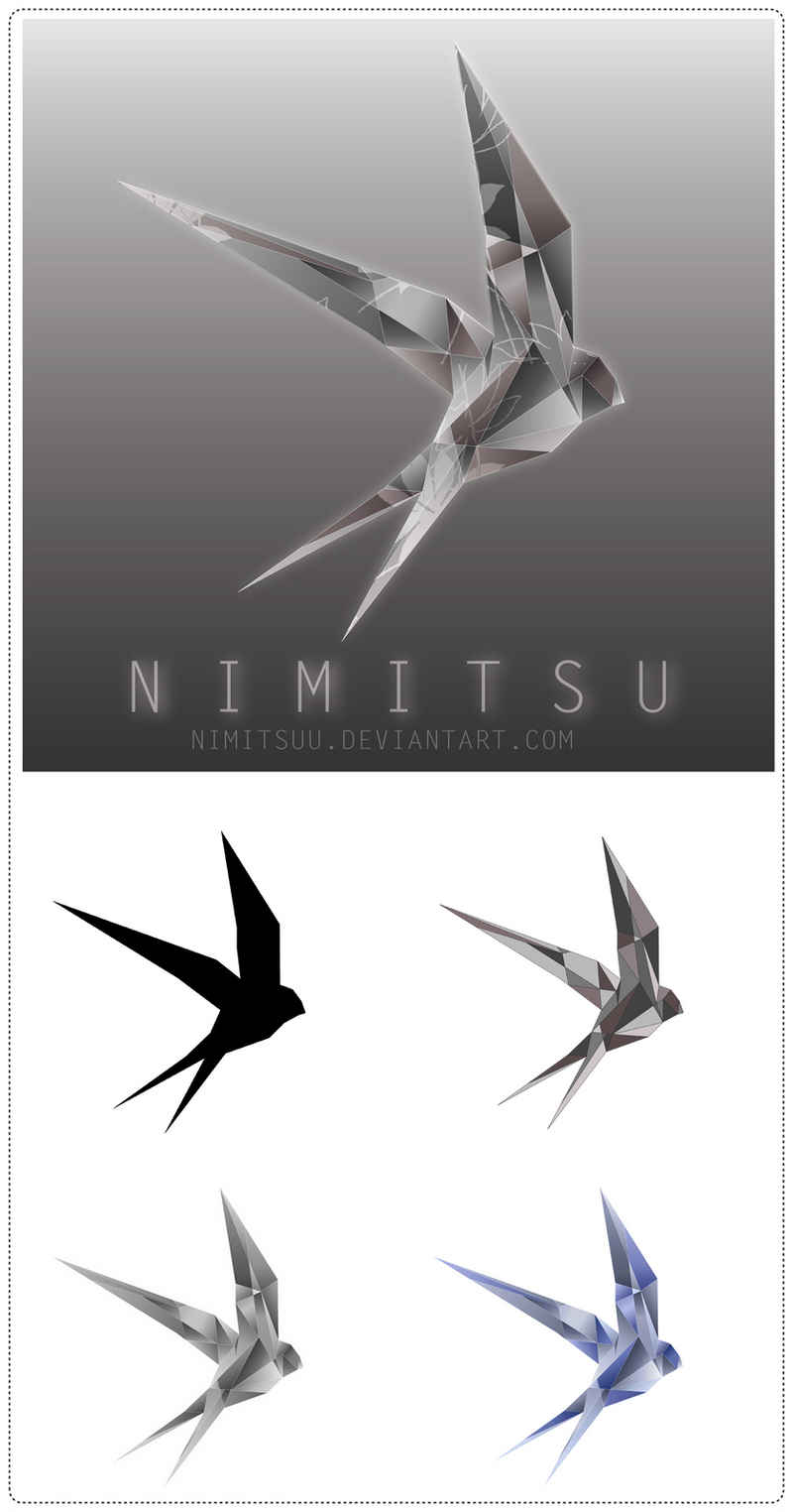 Cubist Swallow Logo by Nimitsuu