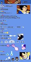Prince Vegeta (Saiyan Saga) sprite sheet