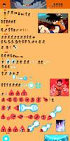 Son Goku (Saiyan Saga) sprite sheet by Woothrad