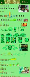 Broly Full Power Super Saiyan Sprite Sheet by Woothrad