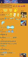 Gogeta Super Saiyan Blue Sprite Sheet