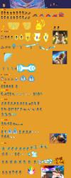 Gogeta Super Saiyan Blue Sprite Sheet by Woothrad