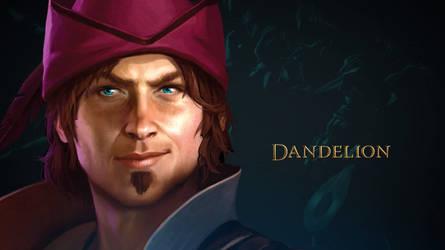 The Witcher Adventure game art Dandelion by Scratcherpen