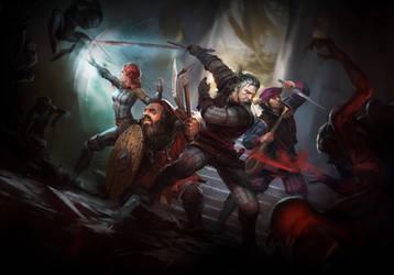 The Witcher Adventure Game Artwork by Scratcherpen