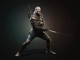 New Geralt render fullsize by Scratcherpen