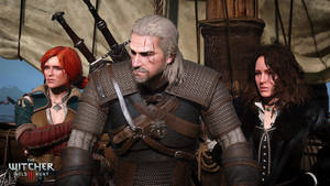 The Witcher 3 Wild Hunt Geralt Triss and Yennefer