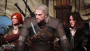 The Witcher 3 Wild Hunt Geralt Triss and Yennefer by Scratcherpen