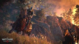 Wild Hunt rider by Scratcherpen
