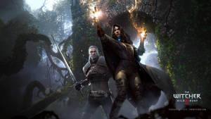 The Witcher 3 Wild Hunt Geralt and Yennefer by Scratcherpen