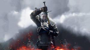 The Witcher 3 Wild Hunt Geralt Sword by Scratcherpen