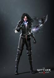 The Witcher 3 Yennefer render update