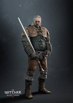 Witcher 3 Vesemir render update HQ