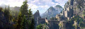 The Witcher 3 panorama Kaer Morhen