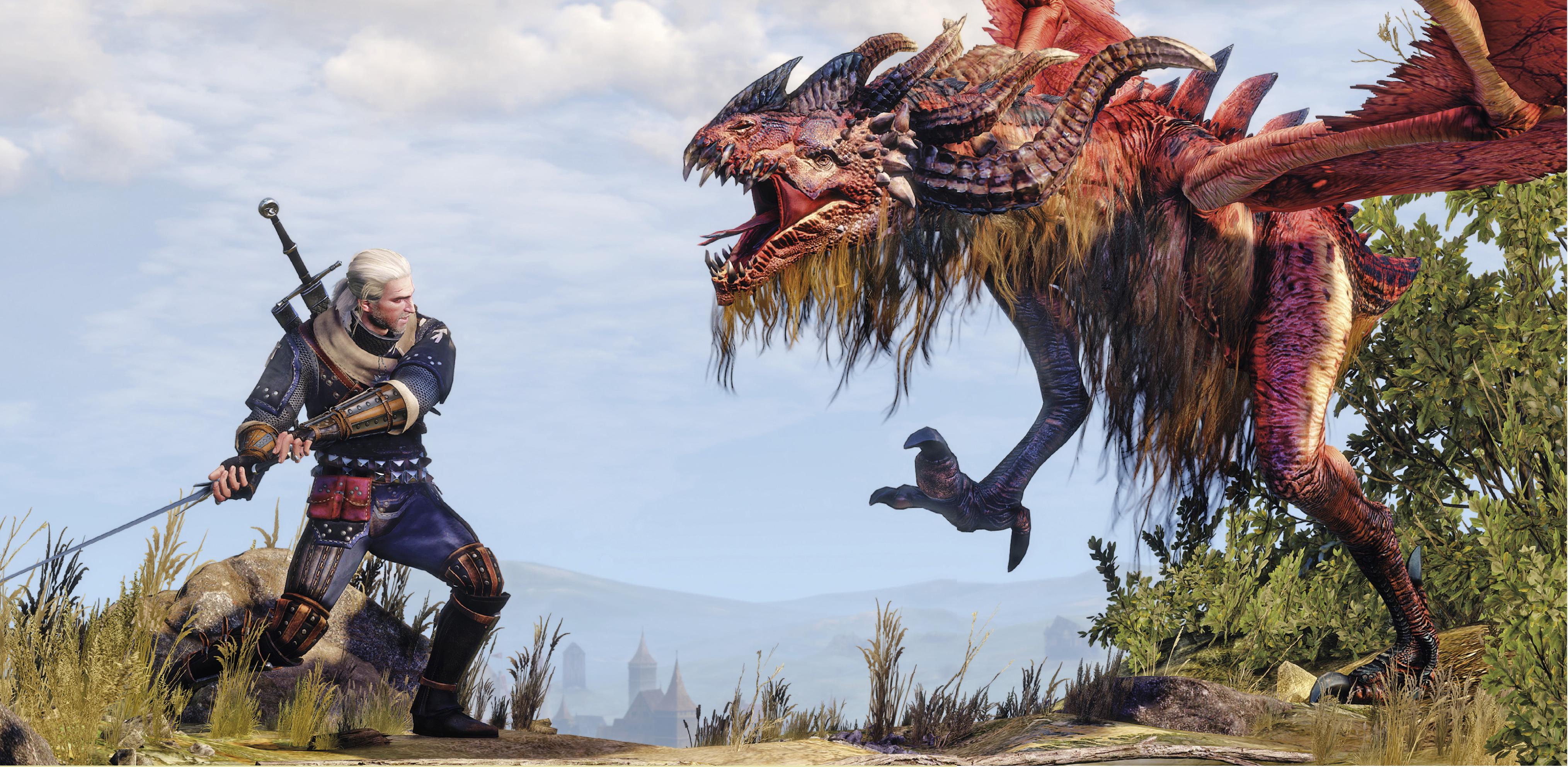 Geralt vs Royal Wyvern by Scratcherpen