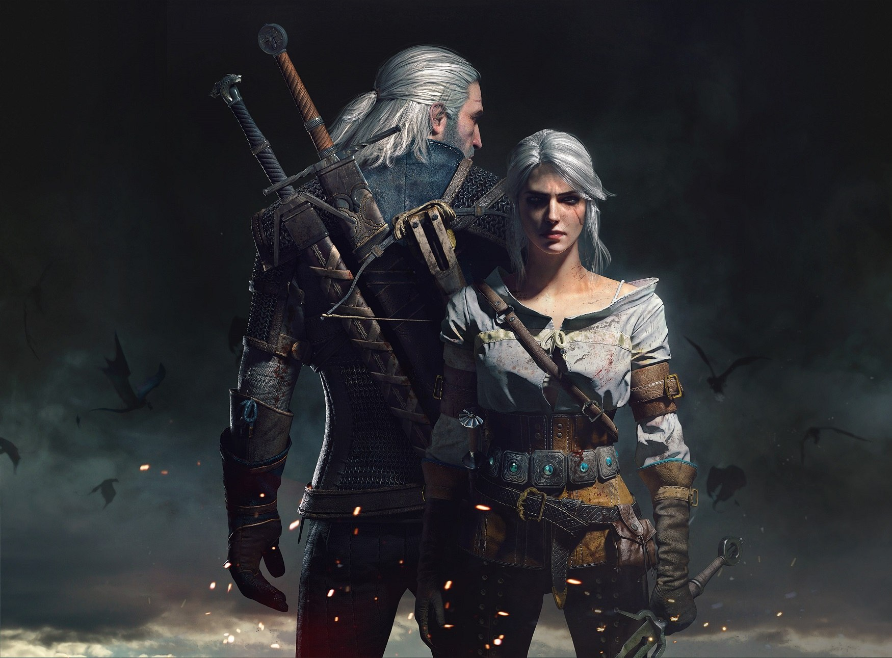 Geralt and Ciri by Scratcherpen