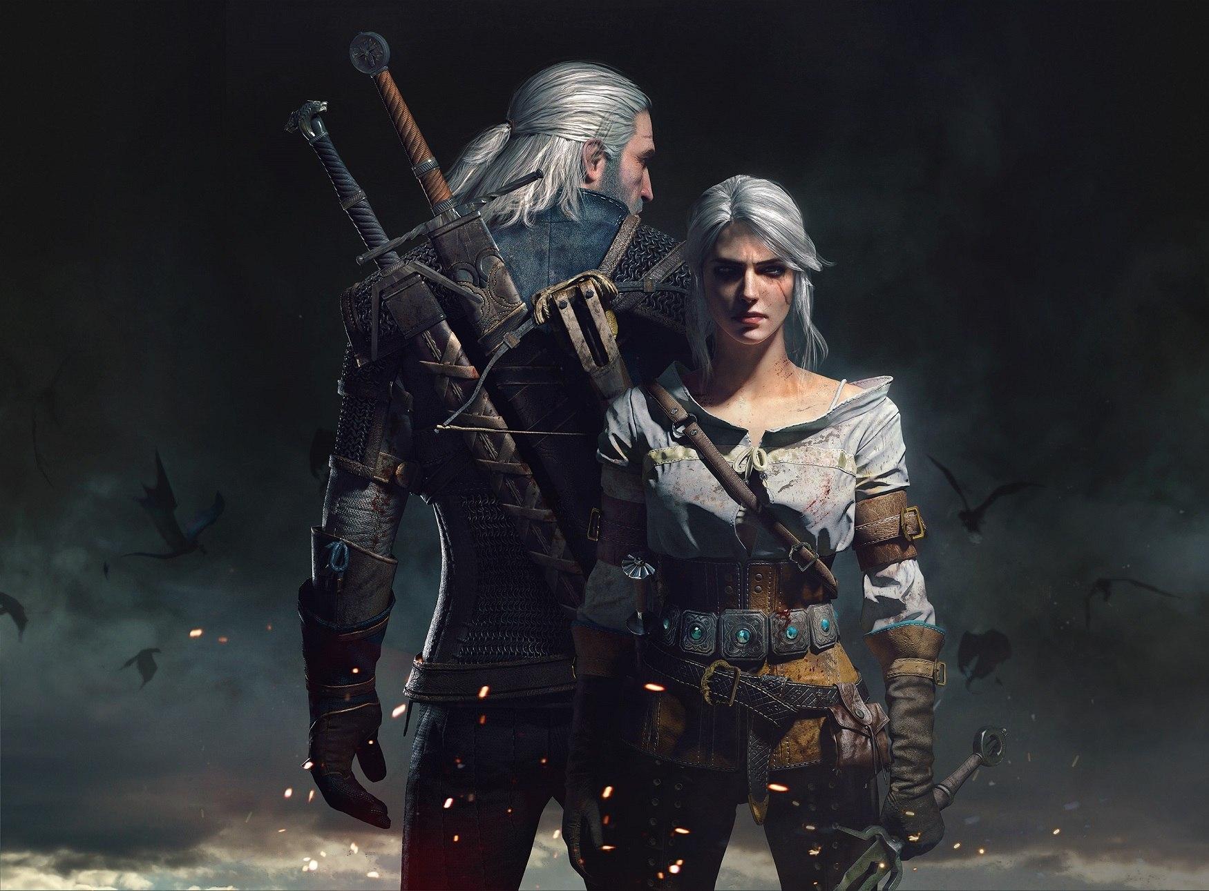 Geralt and Ciri by Scratcherpen