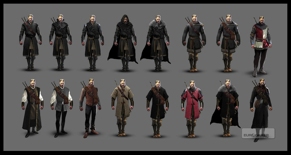 Concept Art Witcher 3 Geralt