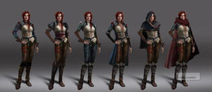 Witcher 3 Triss early concepts 2 by Scratcherpen