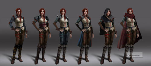 Witcher 3 Triss early concepts 2